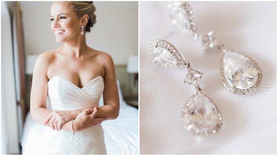 ślubne kolczyki - niezbędny dodatek do sukni